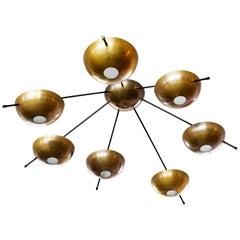 Stilnovo Style Brass Dome Light