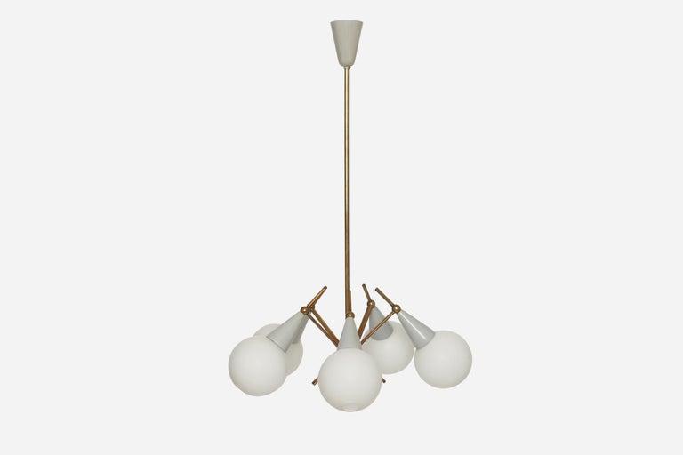 Stilnovo style chandelier. Made in Italy in 1960s.