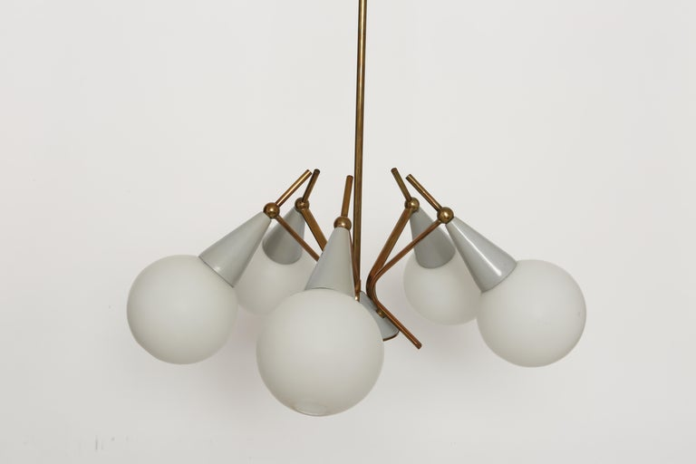 Stilnovo Style Chandelier In Good Condition For Sale In New York, NY