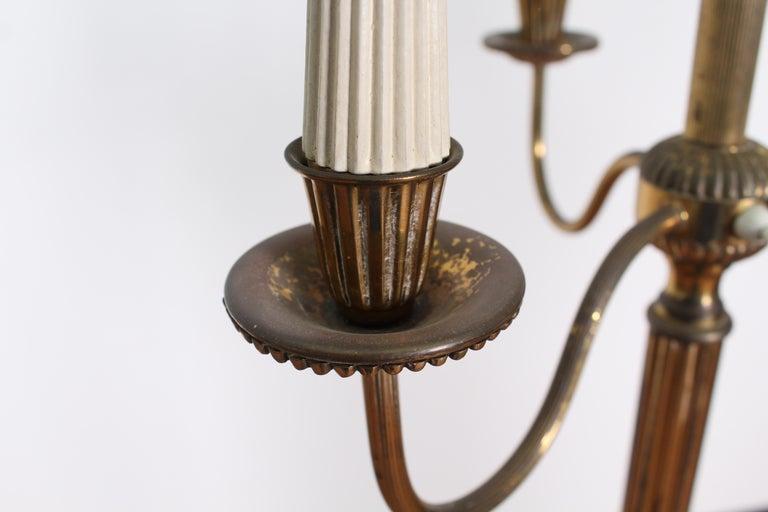 Midcentury Brass Floor Lamp Stilnovo Style Production Italy 1950s  For Sale 4