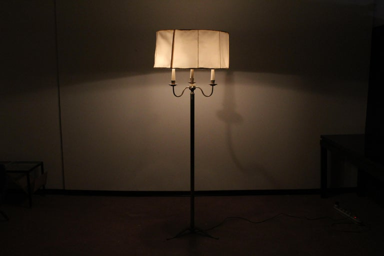 Midcentury Brass Floor Lamp Stilnovo Style Production Italy 1950s  For Sale 7