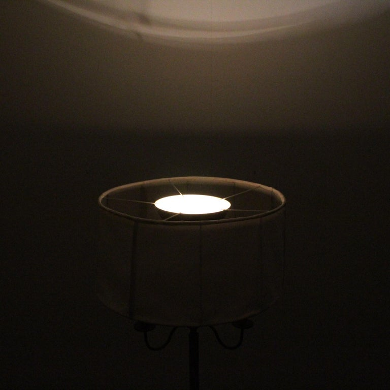 Midcentury Brass Floor Lamp Stilnovo Style Production Italy 1950s  For Sale 10