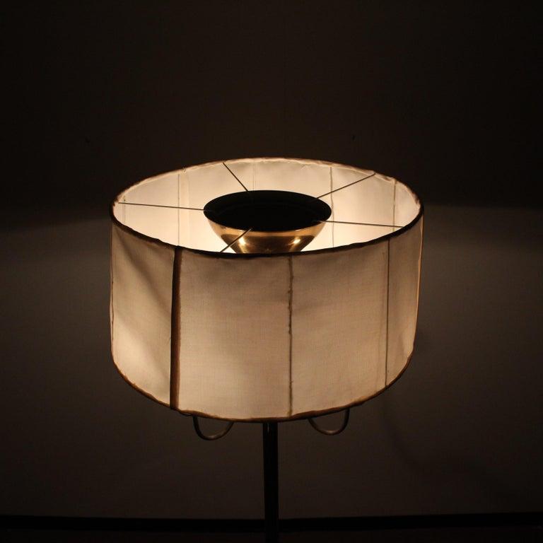 Midcentury Brass Floor Lamp Stilnovo Style Production Italy 1950s  For Sale 11