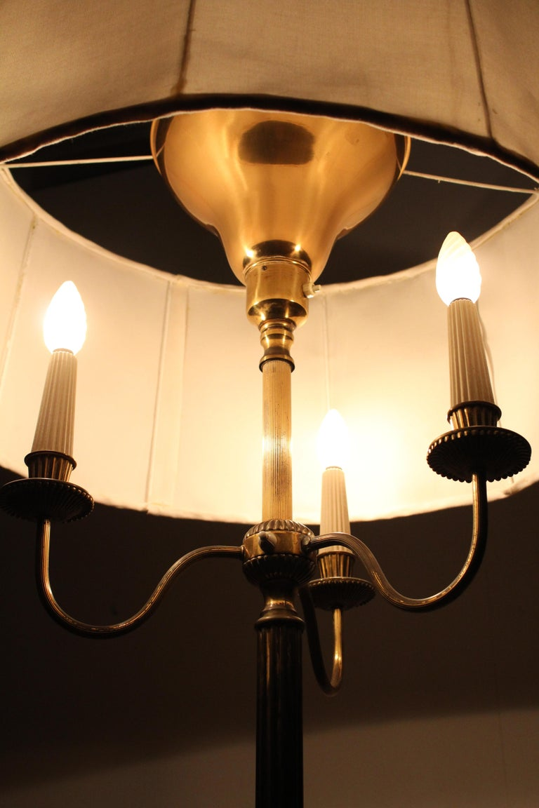 Midcentury Brass Floor Lamp Stilnovo Style Production Italy 1950s  For Sale 13