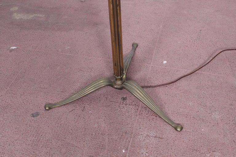 Italian Midcentury Brass Floor Lamp Stilnovo Style Production Italy 1950s  For Sale