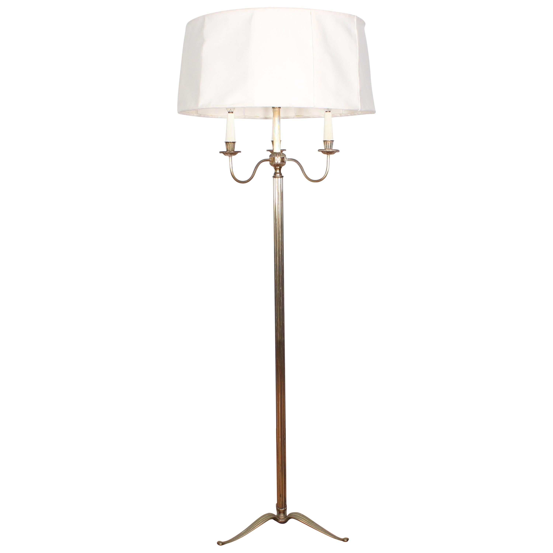 Midcentury Brass Floor Lamp Stilnovo Style Production Italy 1950s