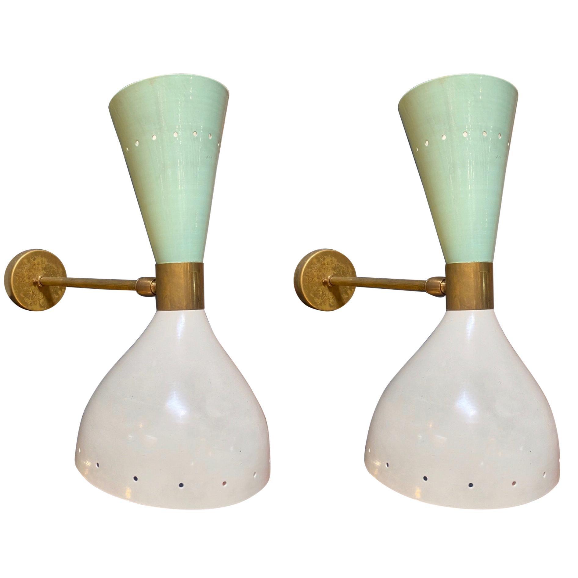 Stilnovo Style Sconces, Italy, 1960s