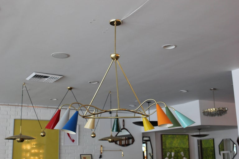 Stilnovo Style Triangular Pendant In New Condition For Sale In Los Angeles, CA