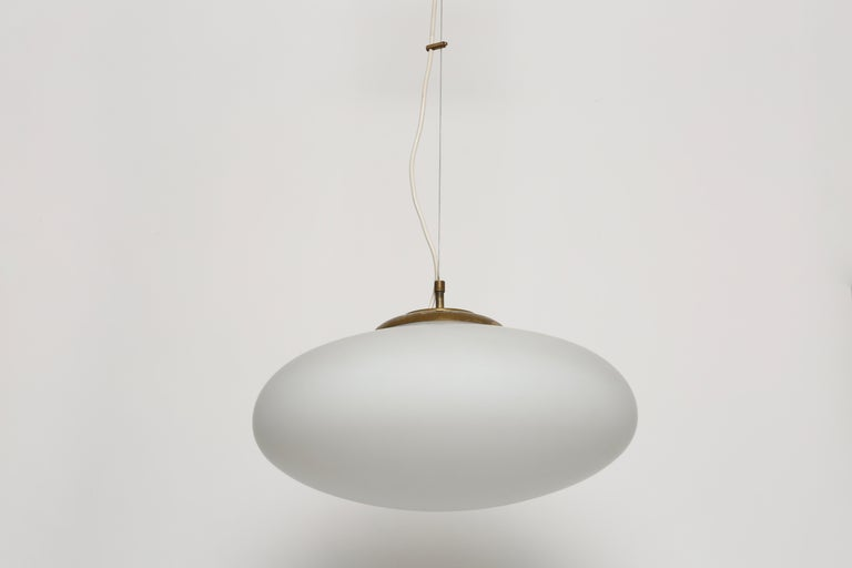 Mid-Century Modern Stilnovo Style UFO Ceiling Pendant For Sale