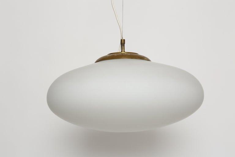 Italian Stilnovo Style UFO Ceiling Pendant For Sale