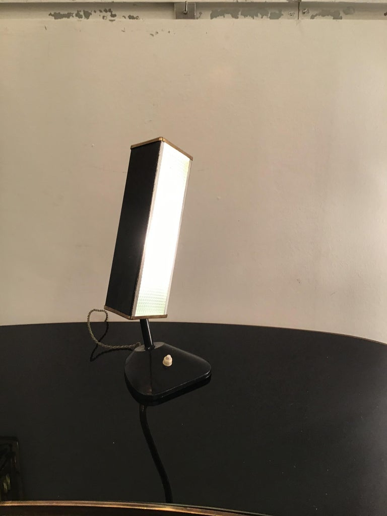Stilnovo Table Lamp Brass Glass Metal, 1950, Italy For Sale 8