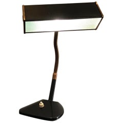 Stilnovo Table Lamp Brass Glass Metal, 1950, Italy