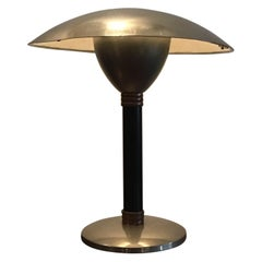 Stilnovo Table Lamp Chromed Metal and Copper, 1960, Italy