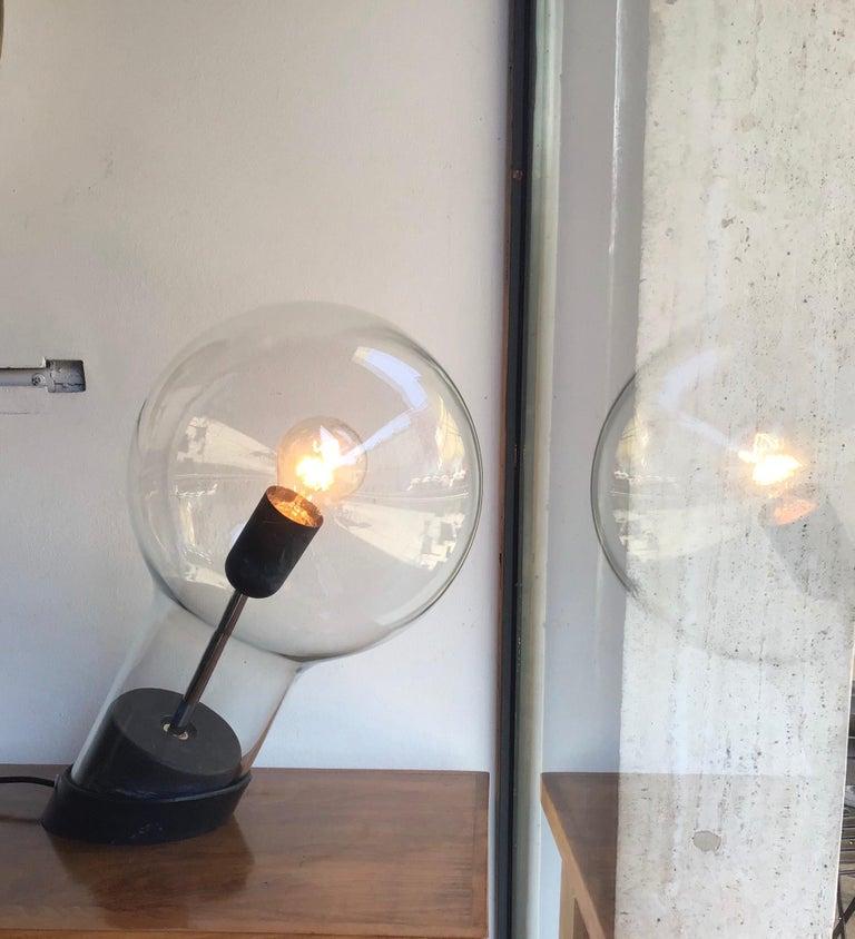 Stilnovo Table Lamp Glass Ghisa Metal, 1960, Italy For Sale 3