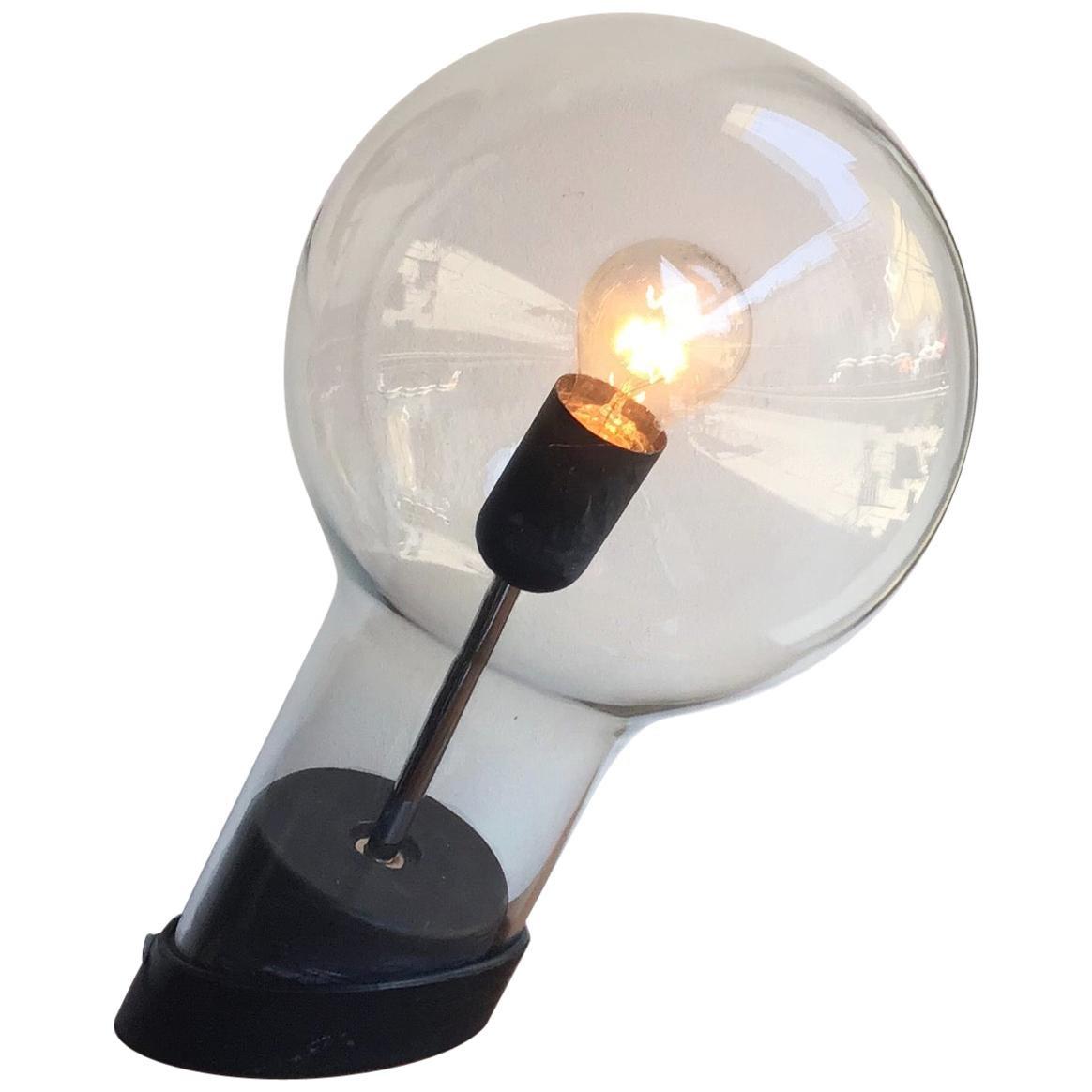 Stilnov StyleTable Lamp Glass Ghisa Metal, 1960, Italy