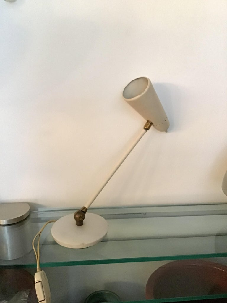 Stilnovo Table Lamp Marble Brass Metal 1950 Italy, Adjustable in Multiple Direct For Sale 9