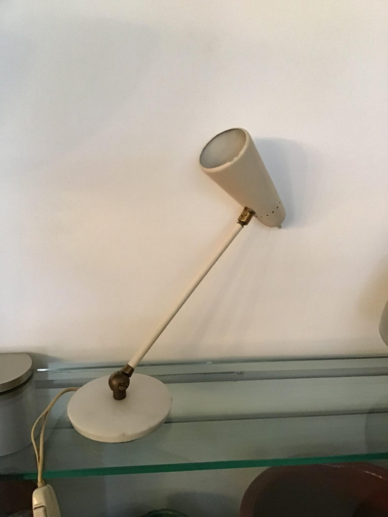 Stilnovo Table Lamp Marble Brass Metal 1950 Italy, Adjustable in Multiple Direct For Sale 10
