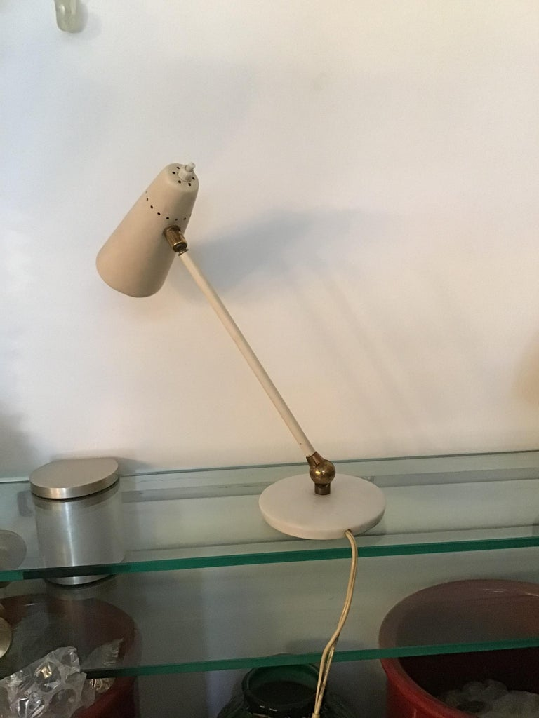 Stilnovo Table Lamp Marble Brass Metal 1950 Italy, Adjustable in Multiple Direct For Sale 1