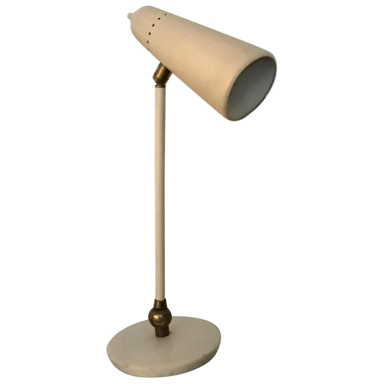 Stilnovo Table Lamp Marble Brass Metal 1950 Italy, Adjustable in Multiple Direct For Sale