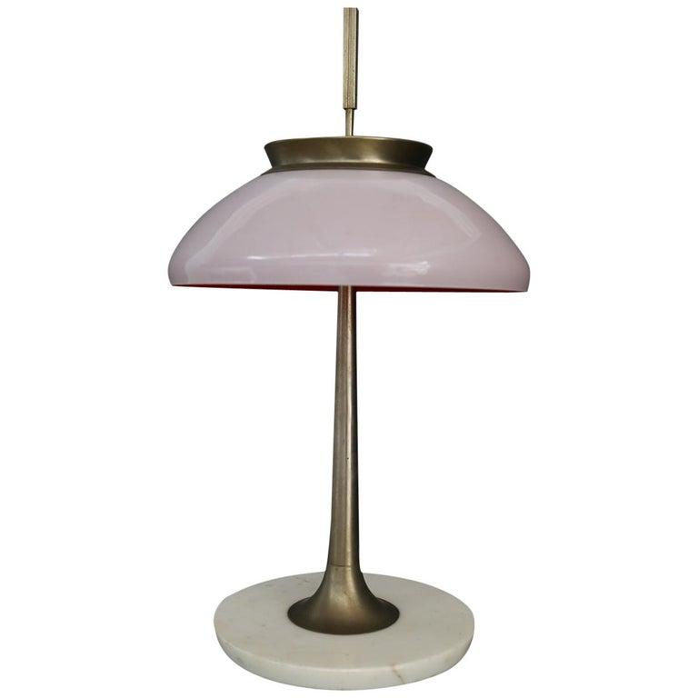 Stilnovo Table Lamp Midcentury in Brass Mod. 8091, Original Label, 1950s