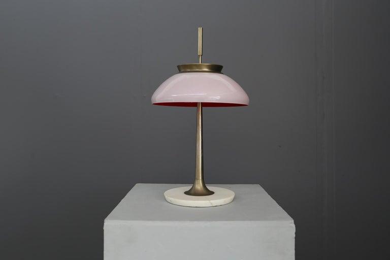 Stilnovo Table Lamp Midcentury in Brass Mod. 8091, Original Label, 1950s In Good Condition In Milano, IT