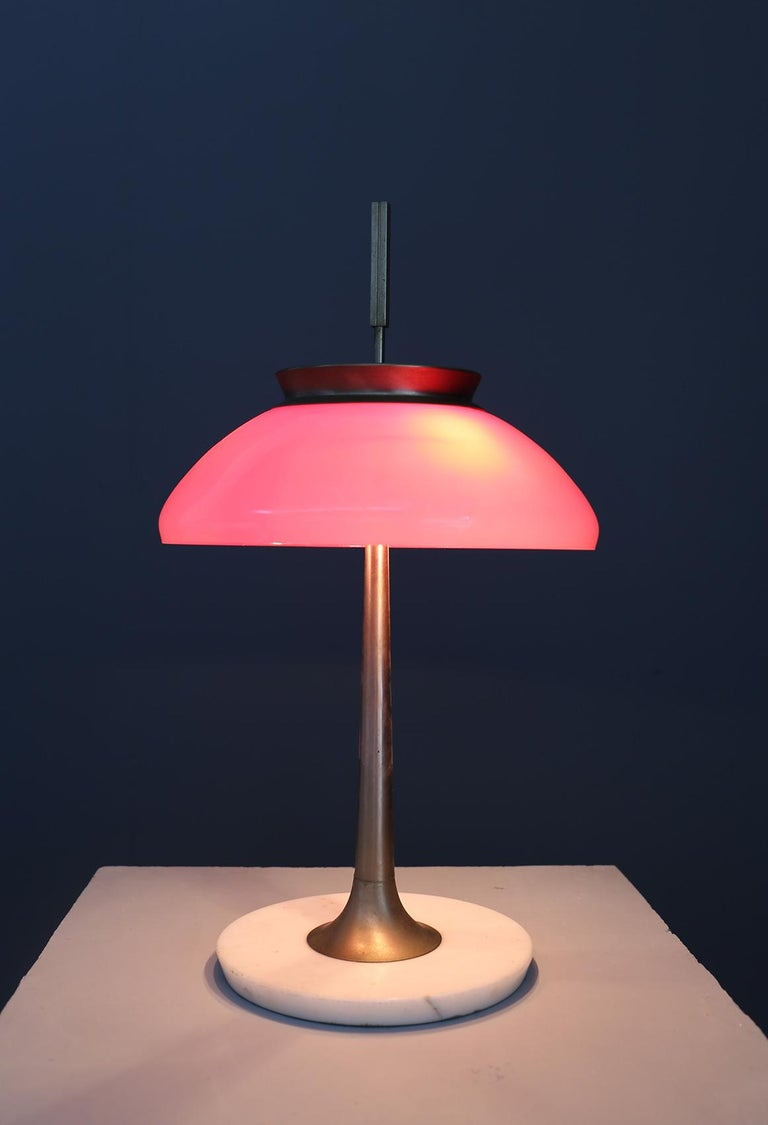 Stilnovo Table Lamp Midcentury in Brass Mod. 8091, Original Label, 1950s 1