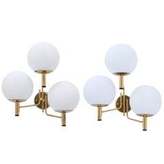 Stilnovo Three Globe Sconces