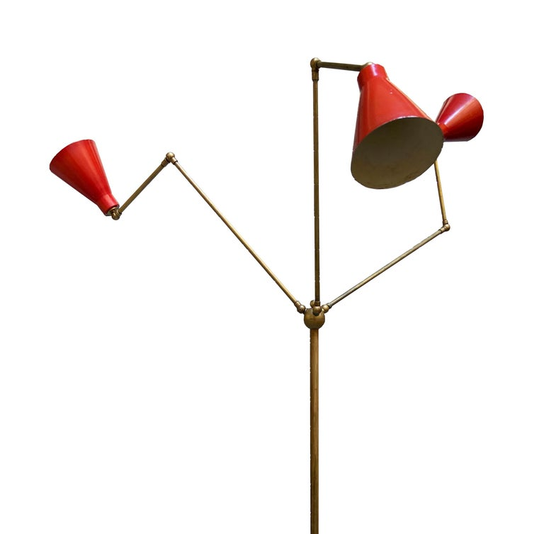 Italian Stilnovo Triennale Floor Lamp, 1950s For Sale