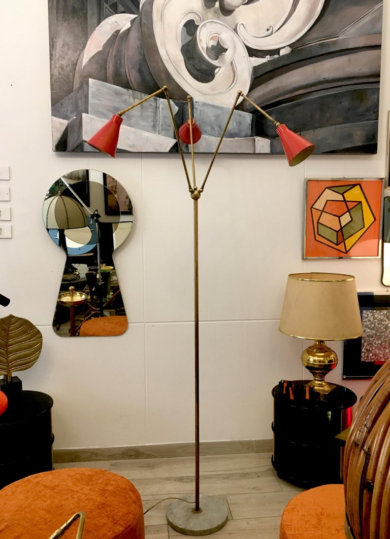 Stilnovo Triennale Floor Lamp, 1950s In Good Condition For Sale In Naples, IT