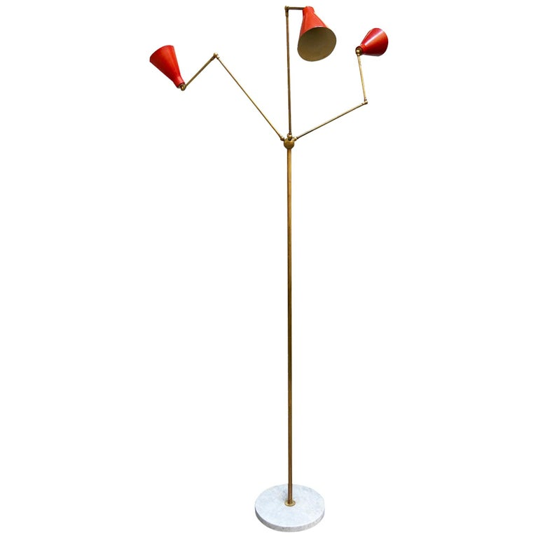 Stilnovo Triennale Floor Lamp, 1950s For Sale