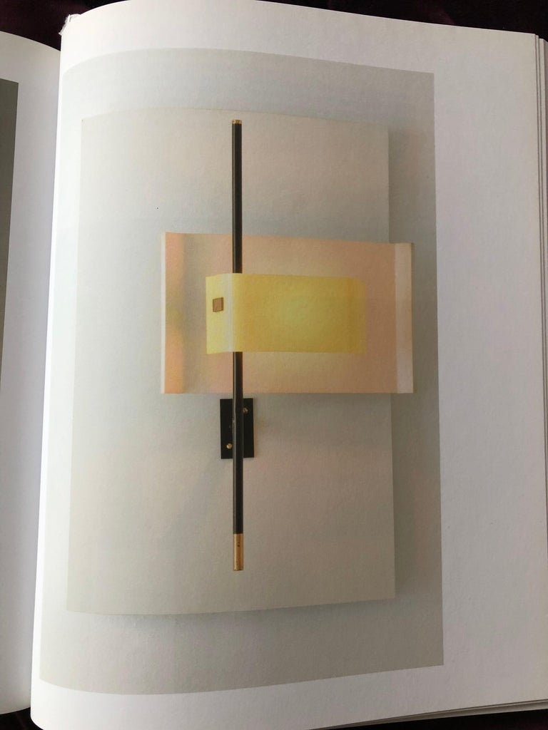 Stilnovo Wall Lamp Sconce Model 2020 Red Plexiglass, Italy, 1955, US Cabled For Sale 2