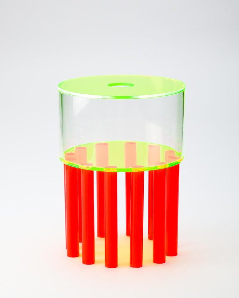 American Stilts Vase, Contemporary Sculptural Acrylic Vase For Sale