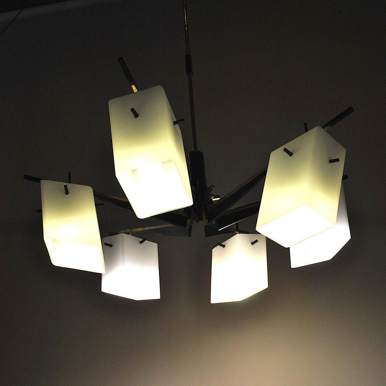 Stilux Chandelier Italian Midcentury from the 1960s For Sale 4