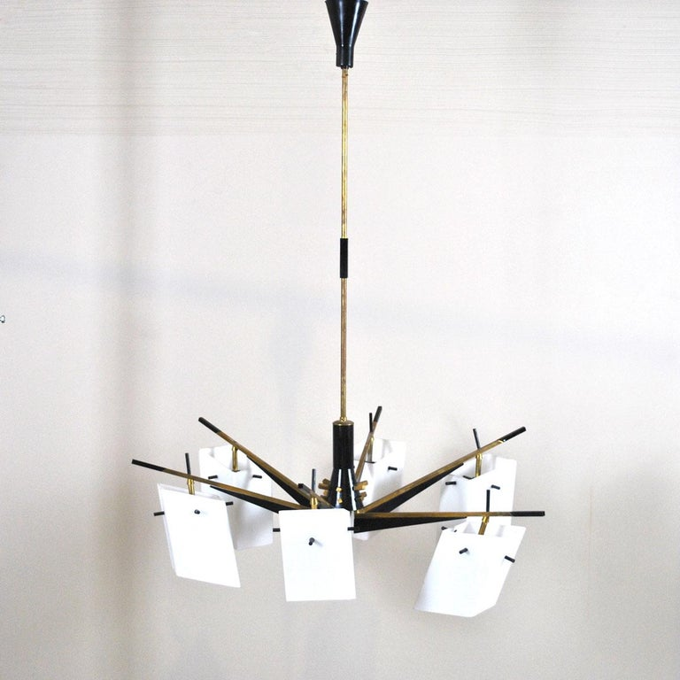 Mid-20th Century Stilux Chandelier Italian Midcentury from the 1960s For Sale