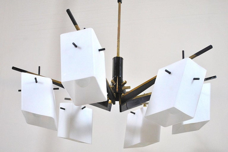 Stilux Chandelier Italian Midcentury from the 1960s For Sale 1