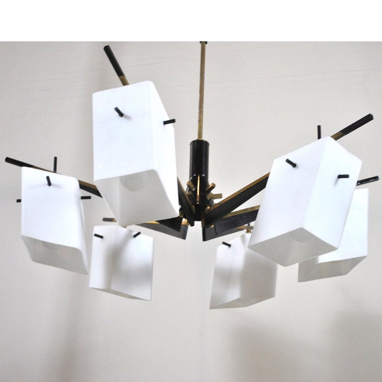 Stilux Chandelier Italian Midcentury from the 1960s For Sale 2