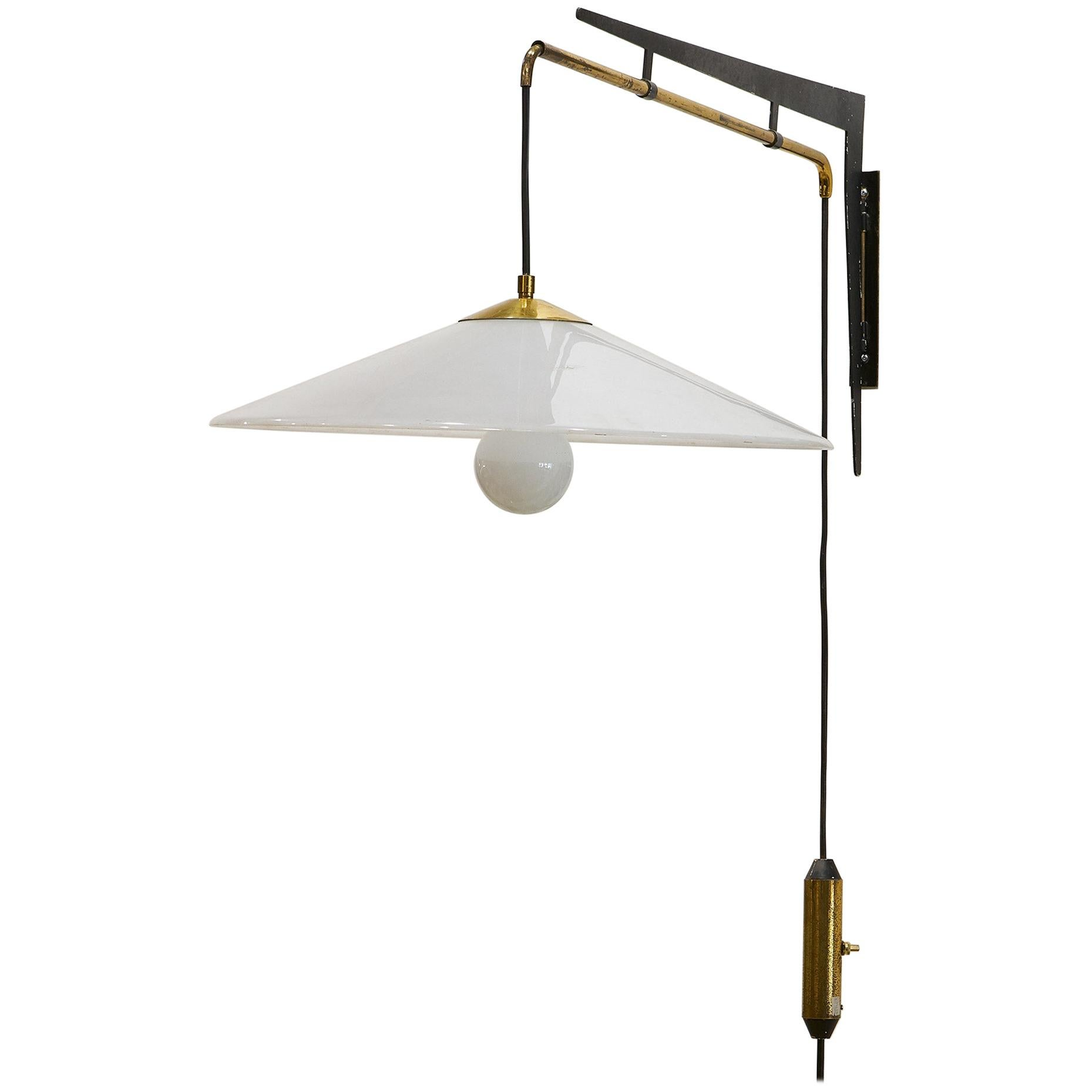 Stilux Counterweight Adjustable Swing Arm Wall Light, Italy, 1960s