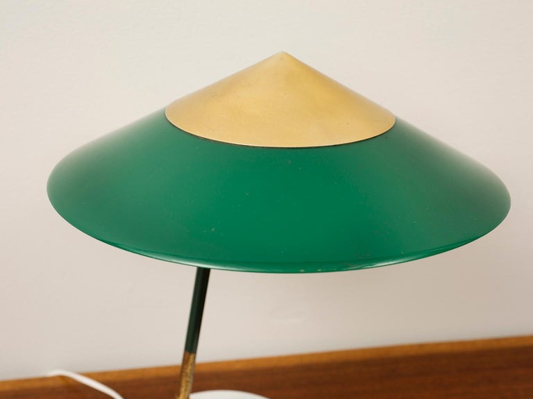 Stilux Desk Lamp in Nickel and Brass with Marble Base, Italy, 1950s In Excellent Condition For Sale In Santa Fe, NM