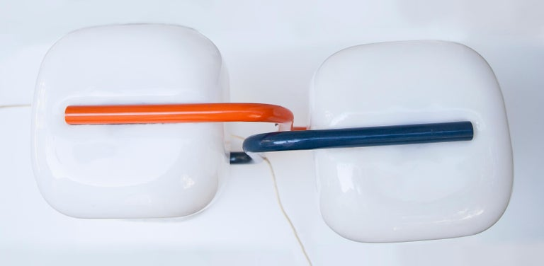 Stilux Marble Bass Table Lamp Set of 2 In Good Condition For Sale In Munich, DE