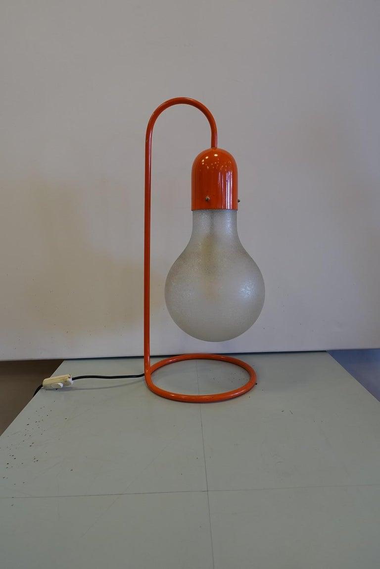 Stilux Milano Midcentury Red Table Lamp, 1970s 2