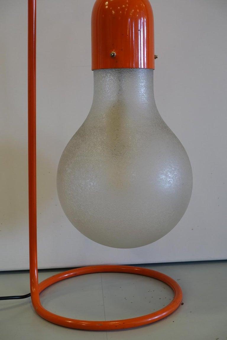 Stilux Milano Midcentury Red Table Lamp, 1970s 3