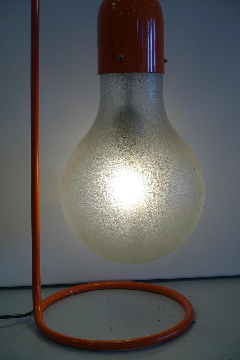 Stilux Milano Midcentury Red Table Lamp, 1970s 4