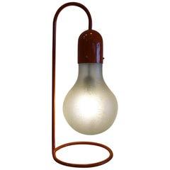Stilux Milano Rote Tischlampe, Jahrhundertmitte, 1970er Jahre