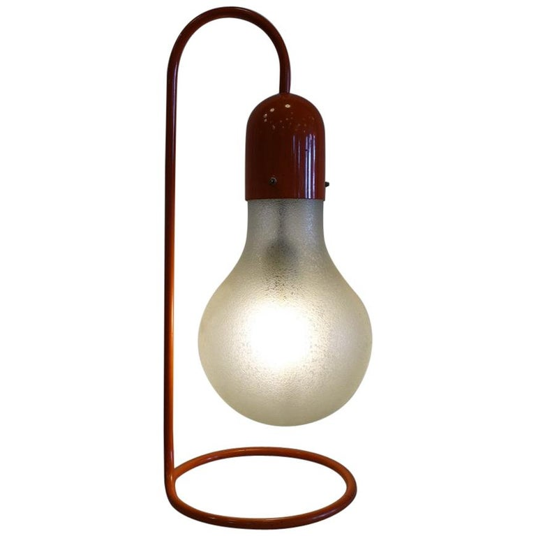 Stilux Milano Midcentury Red Table Lamp, 1970s 1