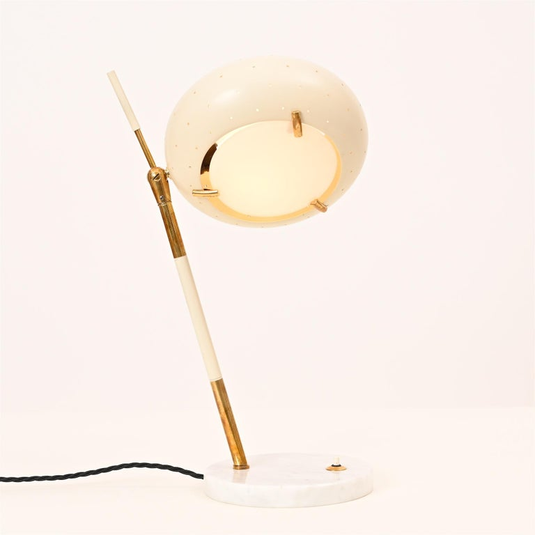 Italian Stilux Table Light, circa 1950 For Sale