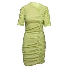 Stine Goya Light Green Ruched Bodycon Dress