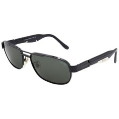 Sting black aviator sunglasses, Italy 90s
