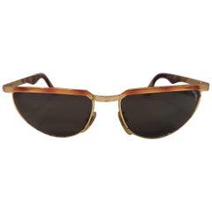 Sting black lens tortoise gold sunglasses