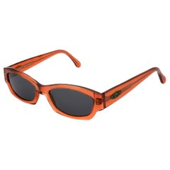 Sting narrow vintage sunglasses translucent, made in Italy