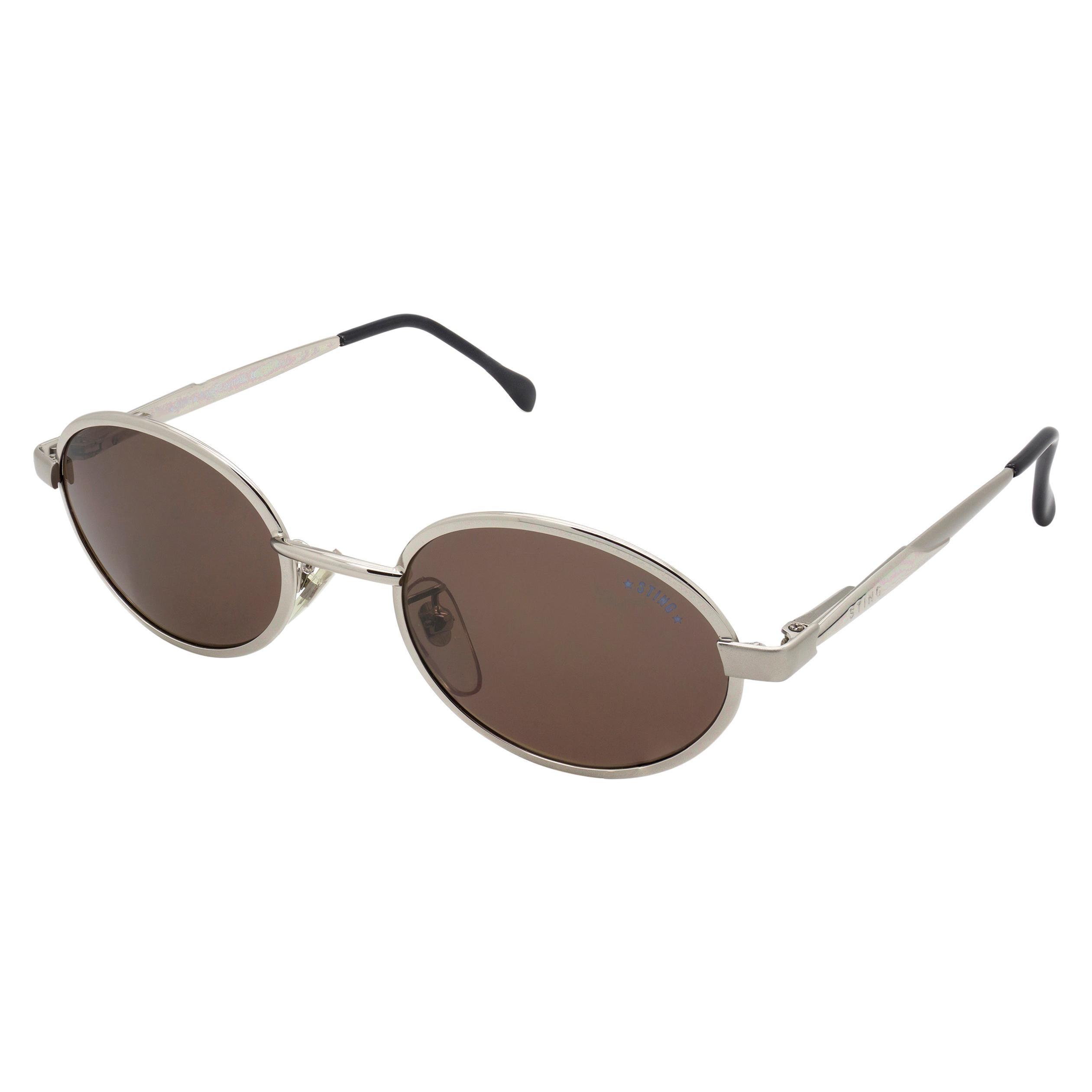 Sting oval vintage sunglasses spring hinges